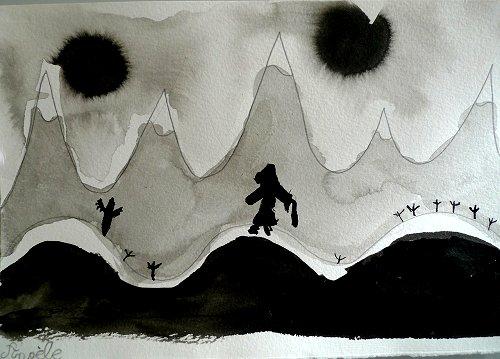 L'homme sur la montagne...