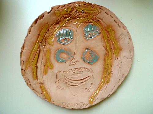 assiette portrait