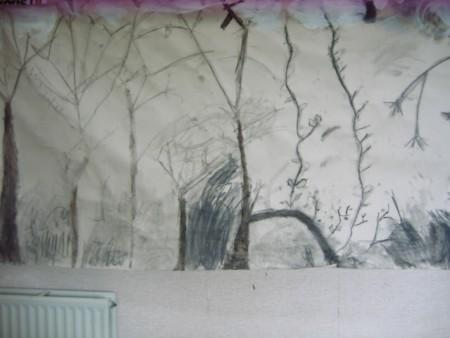 Thème des arbres en hiver